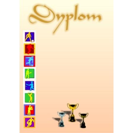 Dyplom sportowy - wzór 09 - Puchary
