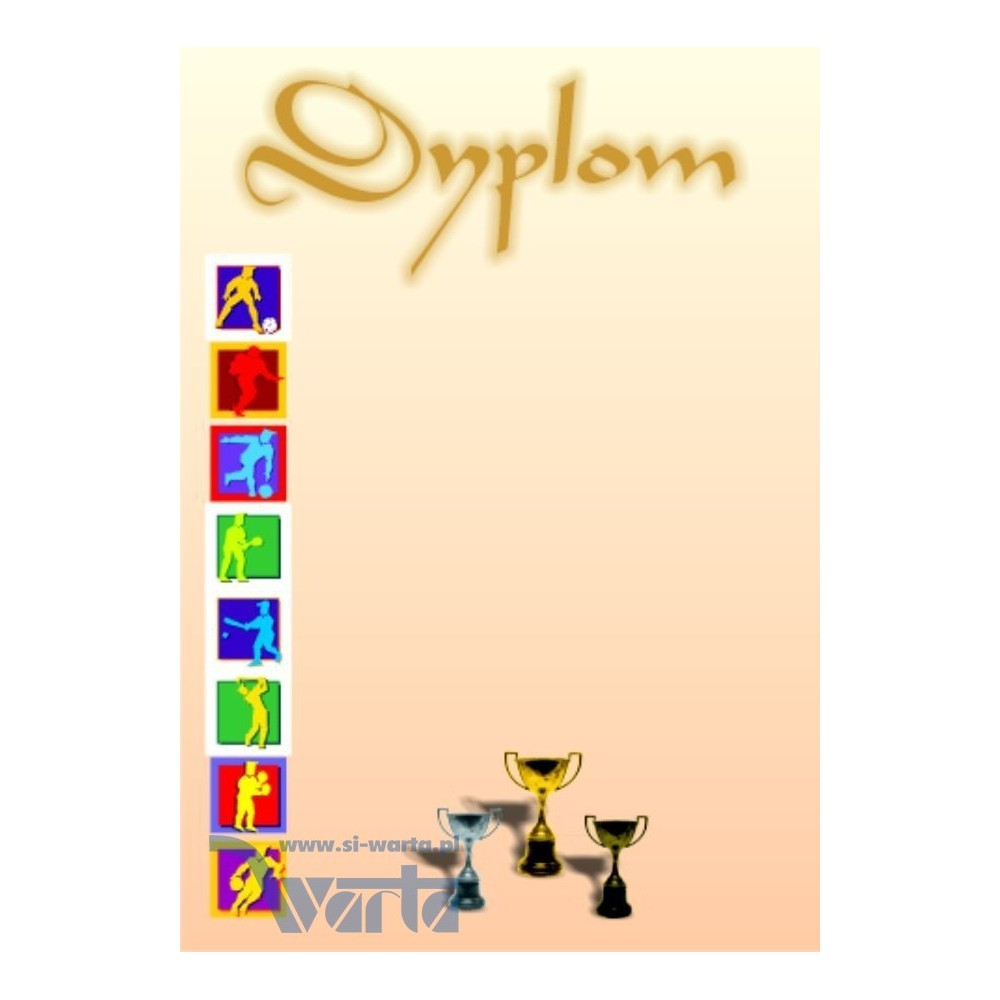 1829-314-004 09 Dyplom sportowy - wzór 09 - Puchary