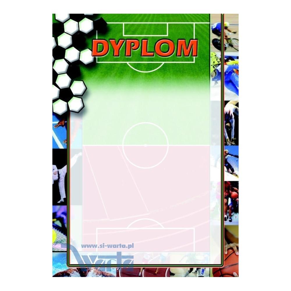 1829-314-013 02 Dyplom sportowy, lakier - wzór 02 - Piłka