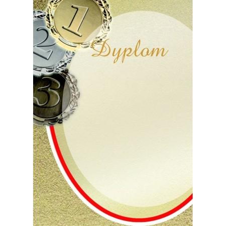1829-314-012 01 Dyplom sportowy, lakier, tłoczenie - wzór 01 - Medale