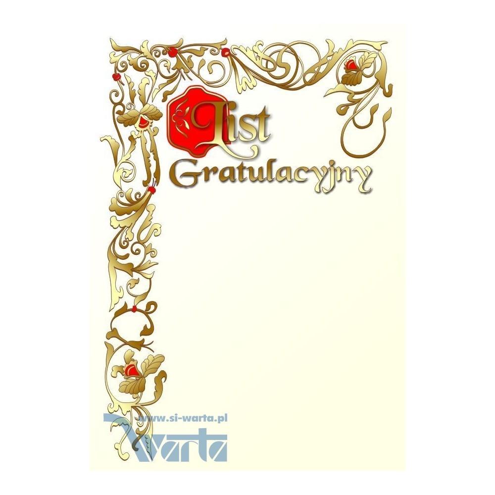 List Gratulacyjny - wzór 09