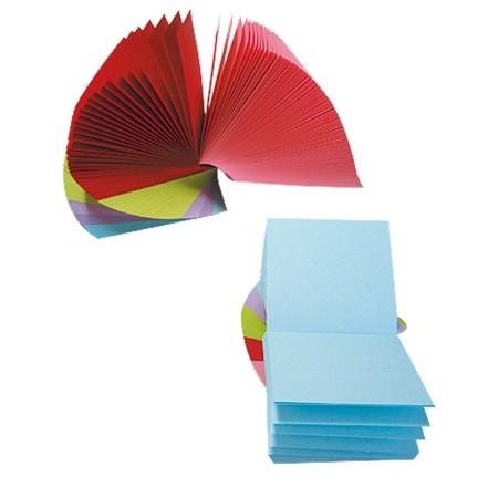 Notes kostka 83x83x50, kolorowa, kręcona