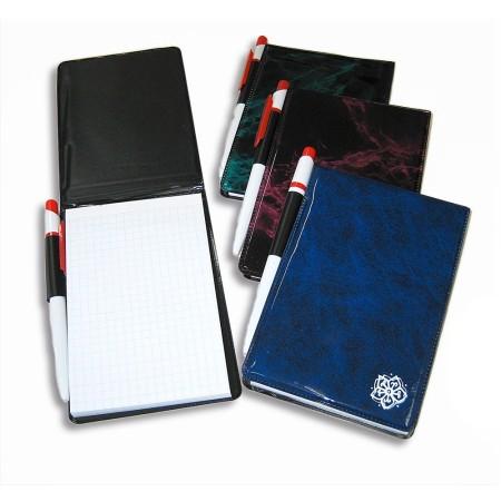 Notes z długopisem 97x149, ~60k, folia lakierowana