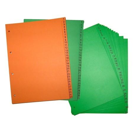 Przekładka ~A4, karton barwiony, 31 części, cyfry