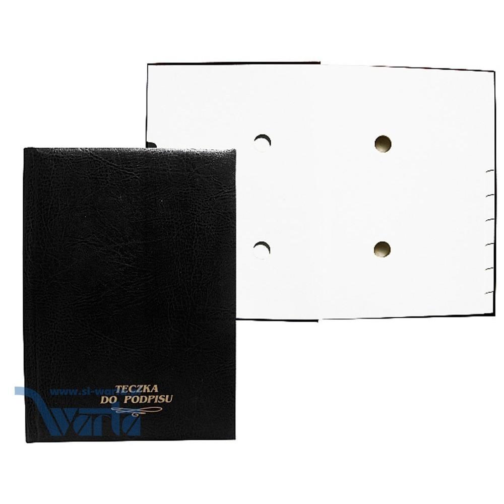 1824-920-023 Teczka do podpisu 10k, grzbiet kryty, z gąbką - czarny