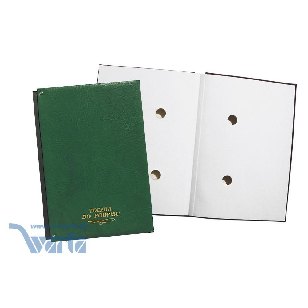 1824-920-016 Teczka do podpisu 10k, harmonijka - zieleń