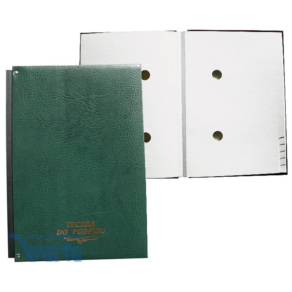 1824-920-004 Teczka do podpisu 20k, harmonijka, z gąbką - zieleń