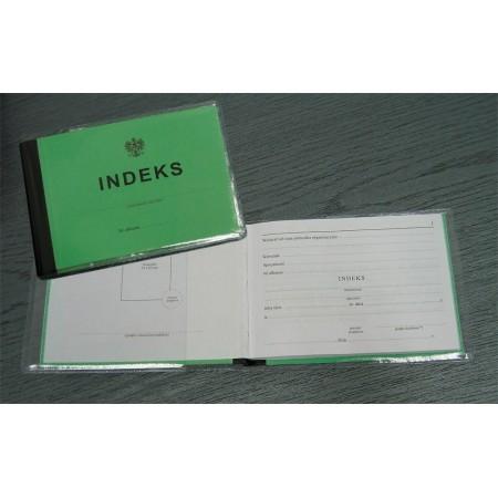 Okładka na Indeks, folia przezroczysta