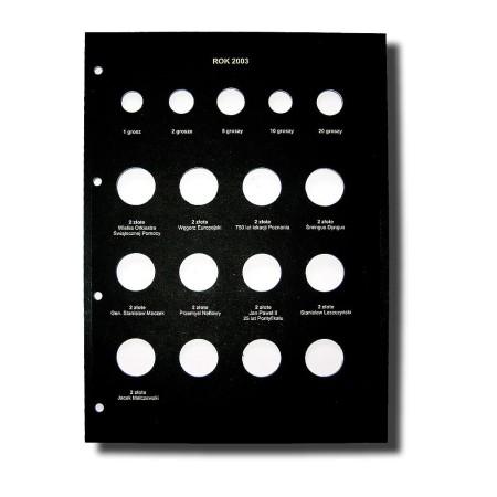 Karta na monety 210x292 rok 2003