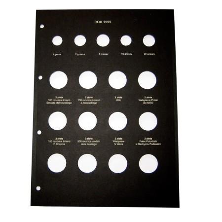 Karta na monety 210x292 rok 1999