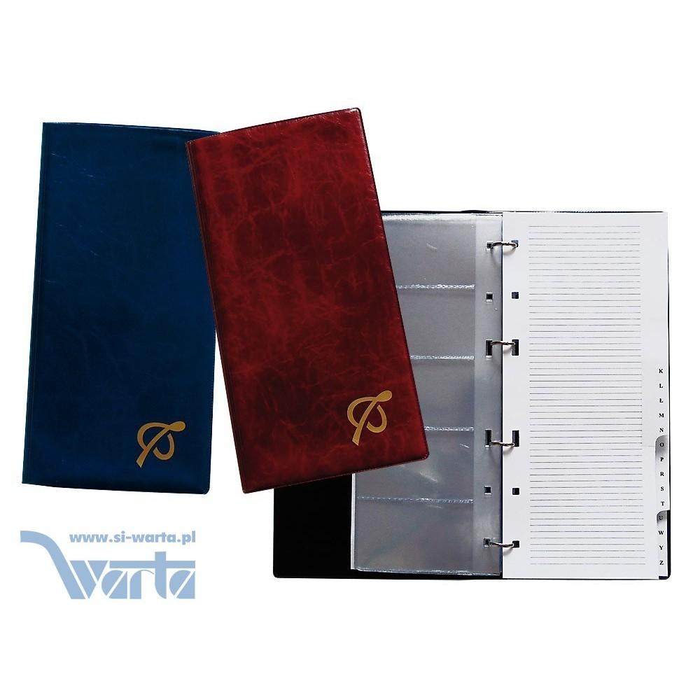2883-999-026 Wizytownik ze skorowidzem na 200 wizytówek, 157x308, folia importowana