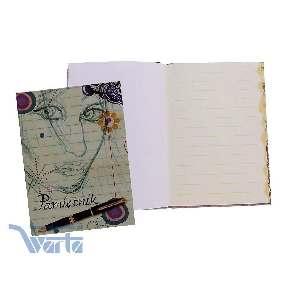 1829-312-018 Pamiętnik ~A6, blok z poddrukiem