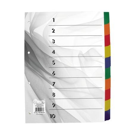 1824-990-014 Przekładka ~A4, karton biały, 10 części