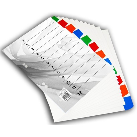 1824-990-019 Przekładka ~A4, karton biały, 12 części