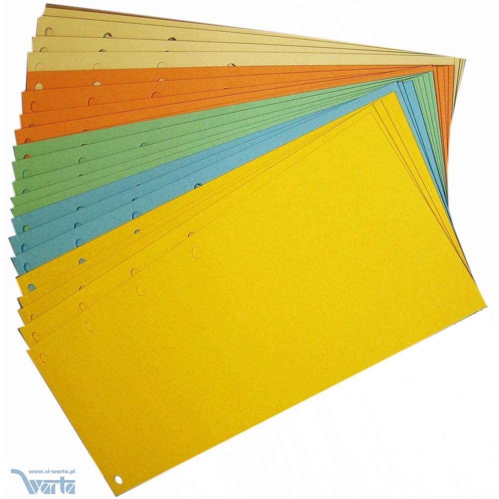 1824-990-040 Przekładka 98x240, karton barwiony, 5 otworów, mix