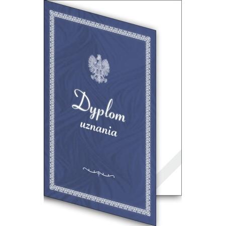Okładka okolicznościowa - Dyplom uznania - wzór 02, narożnik kartonowy