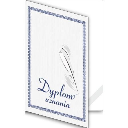 Okładka okolicznościowa - Dyplom uznania - wzór 06, narożnik kartonowy