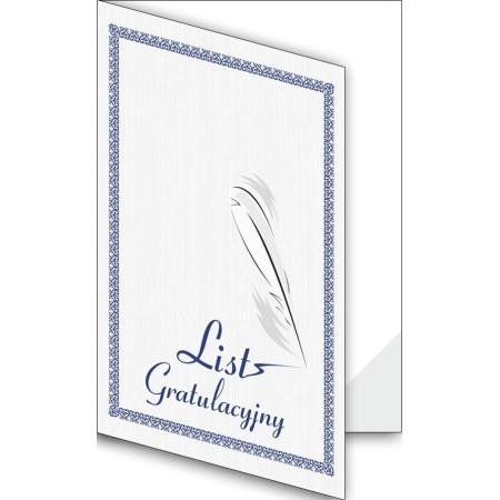 1824-333-701 07F Okładka okolicznościowa - List gratulacyjny - wzór 07, narożnik foliowy