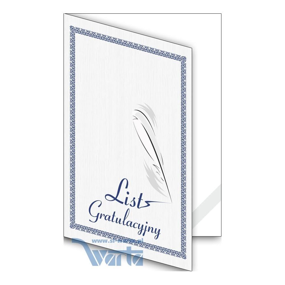 1824-333-700 07K Okładka okolicznościowa - List gratulacyjny - wzór 07, narożnik kartonowy