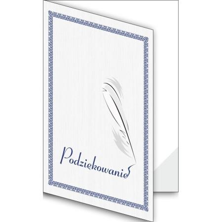 Okładka okolicznościowa - Podziękowanie - wzór 08, narożnik foliowy