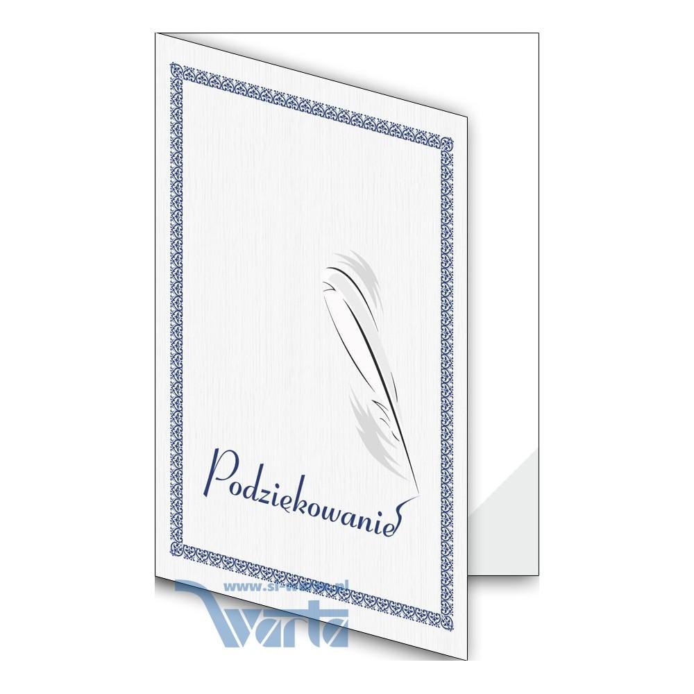 1824-333-701 08F Okładka okolicznościowa - Podziękowanie - wzór 08, narożnik foliowy
