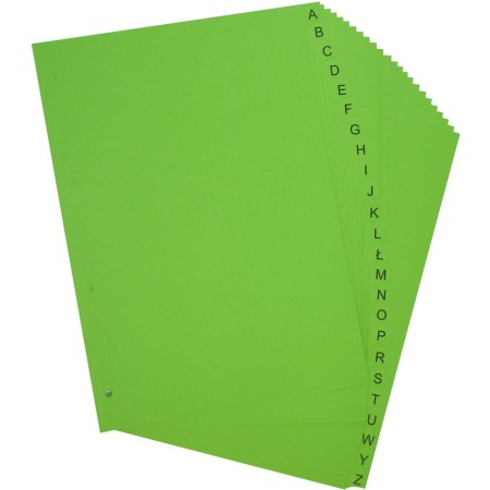 Przekładki do segregatora ~A4 karton barwiony 24 części, litery