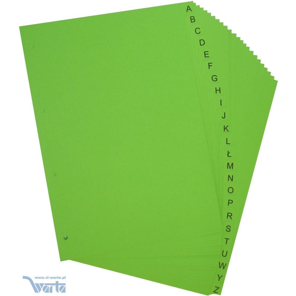 Przekładka ~A4, karton barwiony, 24 części, litery