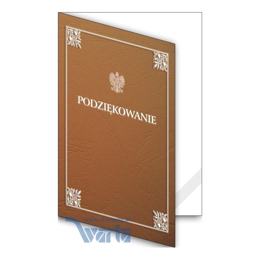 1824-333-700 12K Okładka okolicznościowa - Podziękowanie - wzór 12, narożnik kartonowy