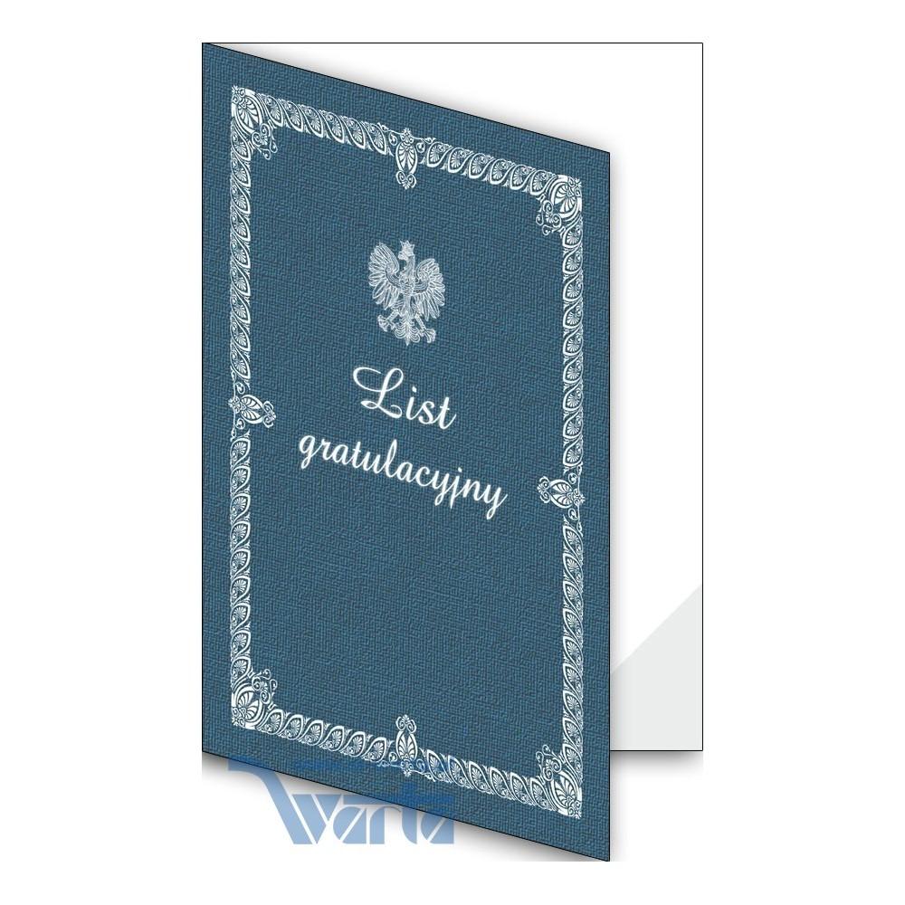 1824-333-701 15F Okładka okolicznościowa - List gratulacyjny - wzór 15, narożnik foliowy