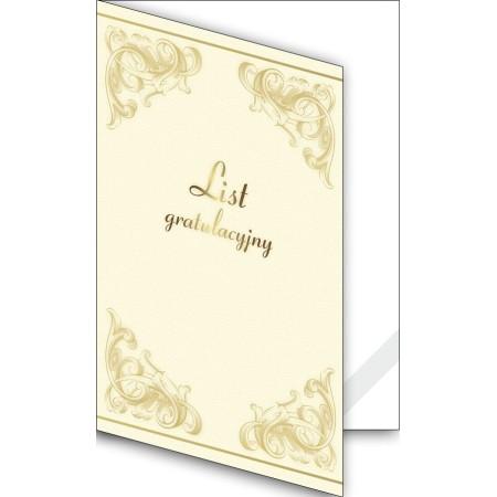 Okładka okolicznościowa - List gratulacyjny - wzór 19, narożnik kartonowy