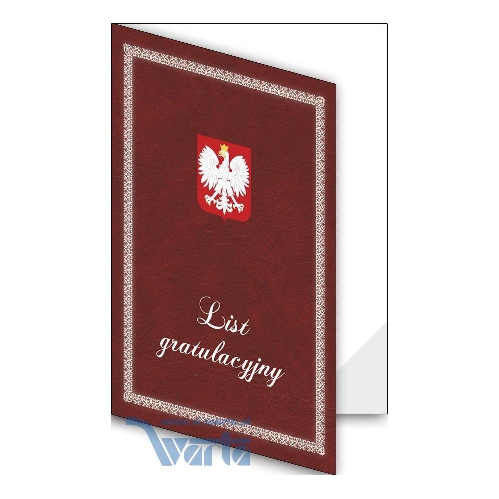 1824-333-701 23F Okładka okolicznościowa - List gratulacyjny - wzór 23, narożnik foliowy
