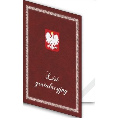 1824-333-700 23K Okładka okolicznościowa - List gratulacyjny - wzór 23, narożnik kartonowy