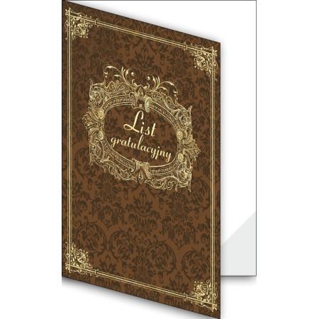 1824-333-701 27F Okładka okolicznościowa - List gratulacyjny - wzór 27, narożnik foliowy
