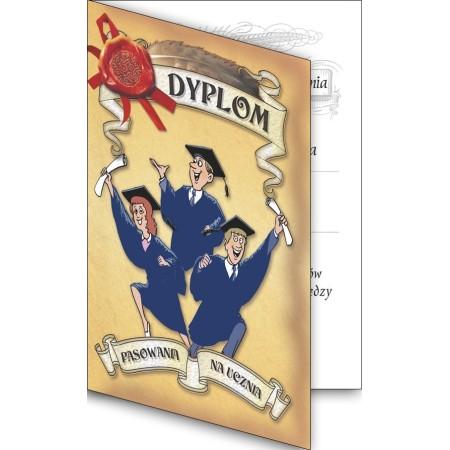 Dyplom pasowania na ucznia, składany - wzór 02