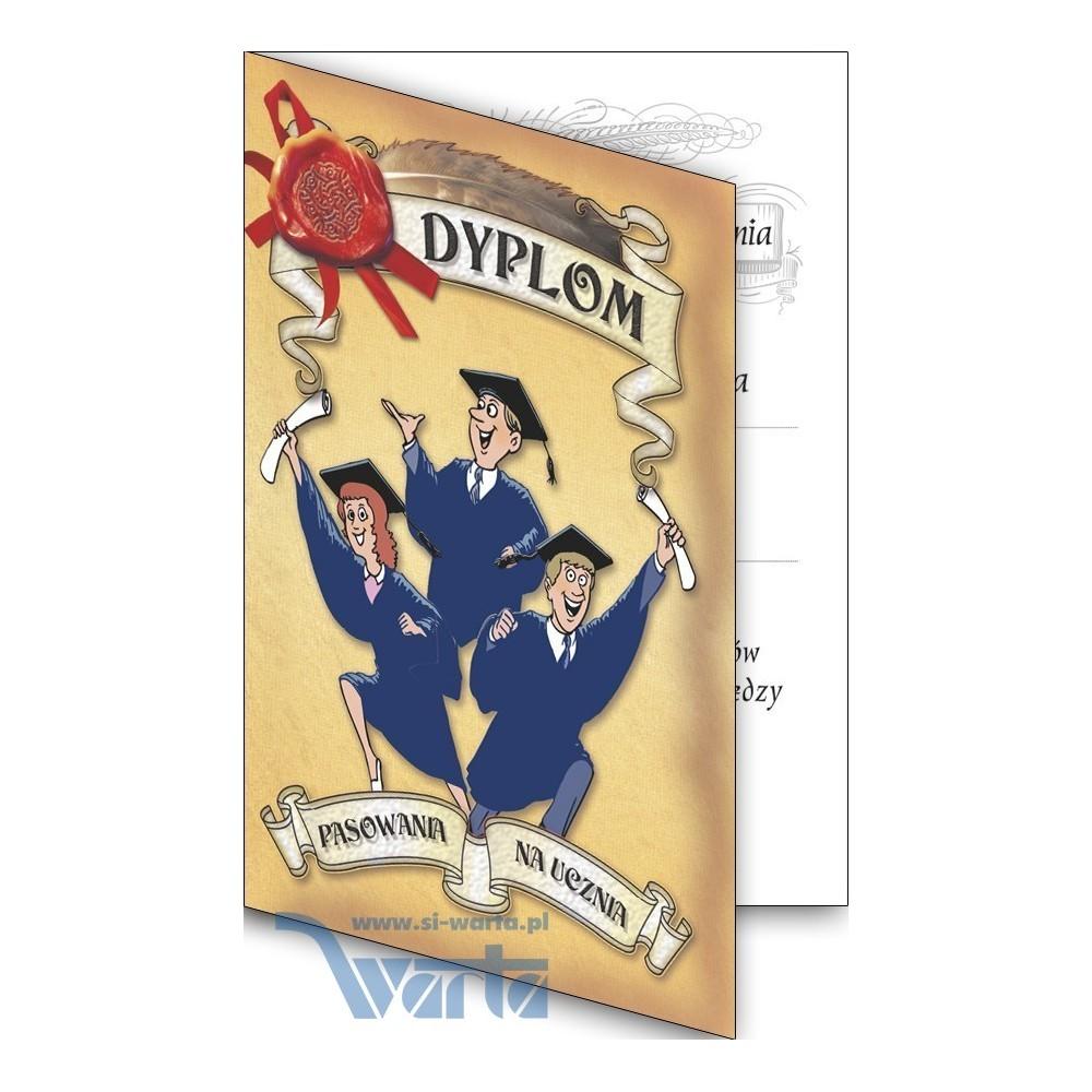 1829-314-011 02 Dyplom pasowania na ucznia, składany - wzór 02