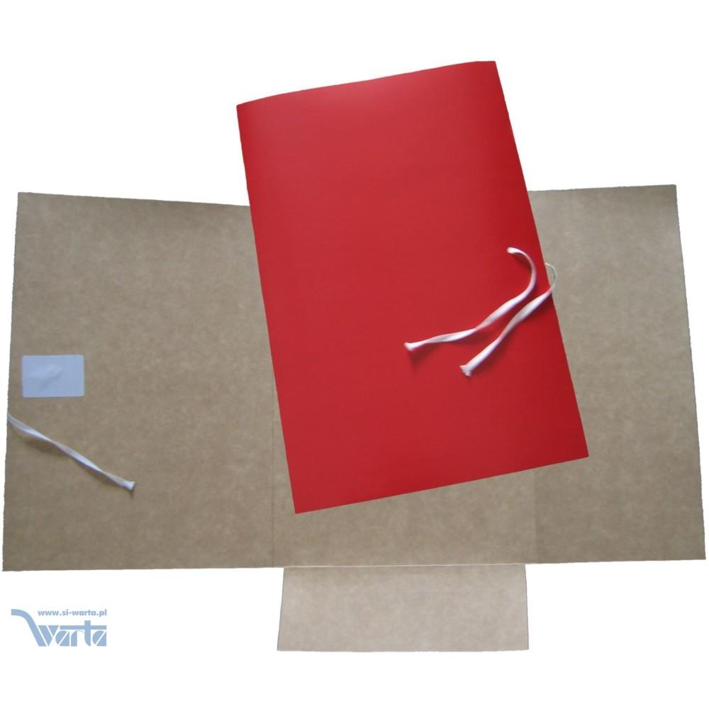 1824-331-010 Teczka 221x320 wiązana - czerwona