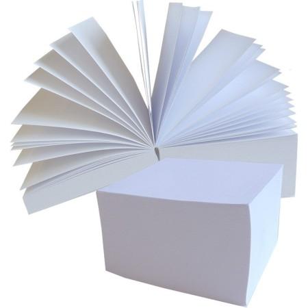 1829-120-004 Notes kostka 83x83x50, biała, klejona