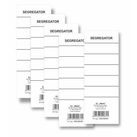 1824-350-001 Etykieta wsuwana do segregatora 70x190