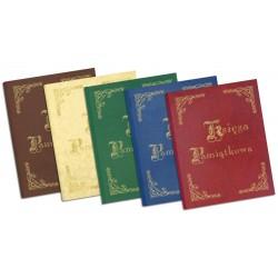 1829-319-033, 034, 035, 036, 037 Księga Pamiątkowa złocona 255x320