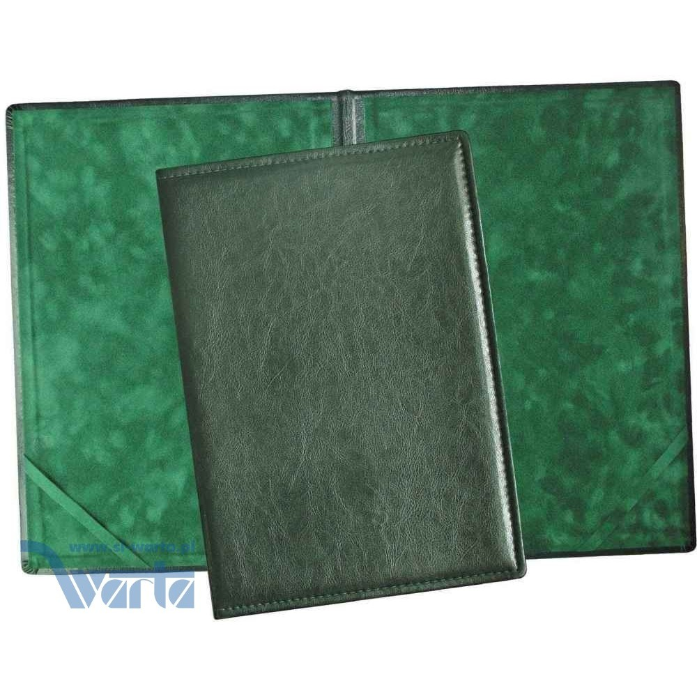1824-339-127 Okładka na dyplom, skóropodobna - zieleń