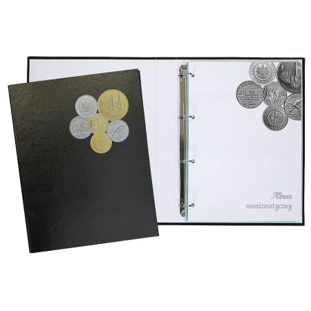 Album na monety 240x315, 3k, z zamkiem, okleina introligatorska