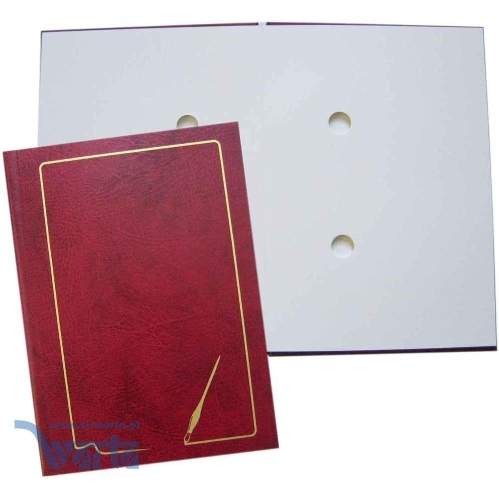 1824-920-047 Teczka do podpisu 10k, grzbiet kryty, z ramką - bordo