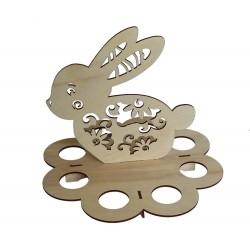 1822-126-218 004 Zając wielkanocny podstawka, stojak na jajka 8 sztuk 223x223x199