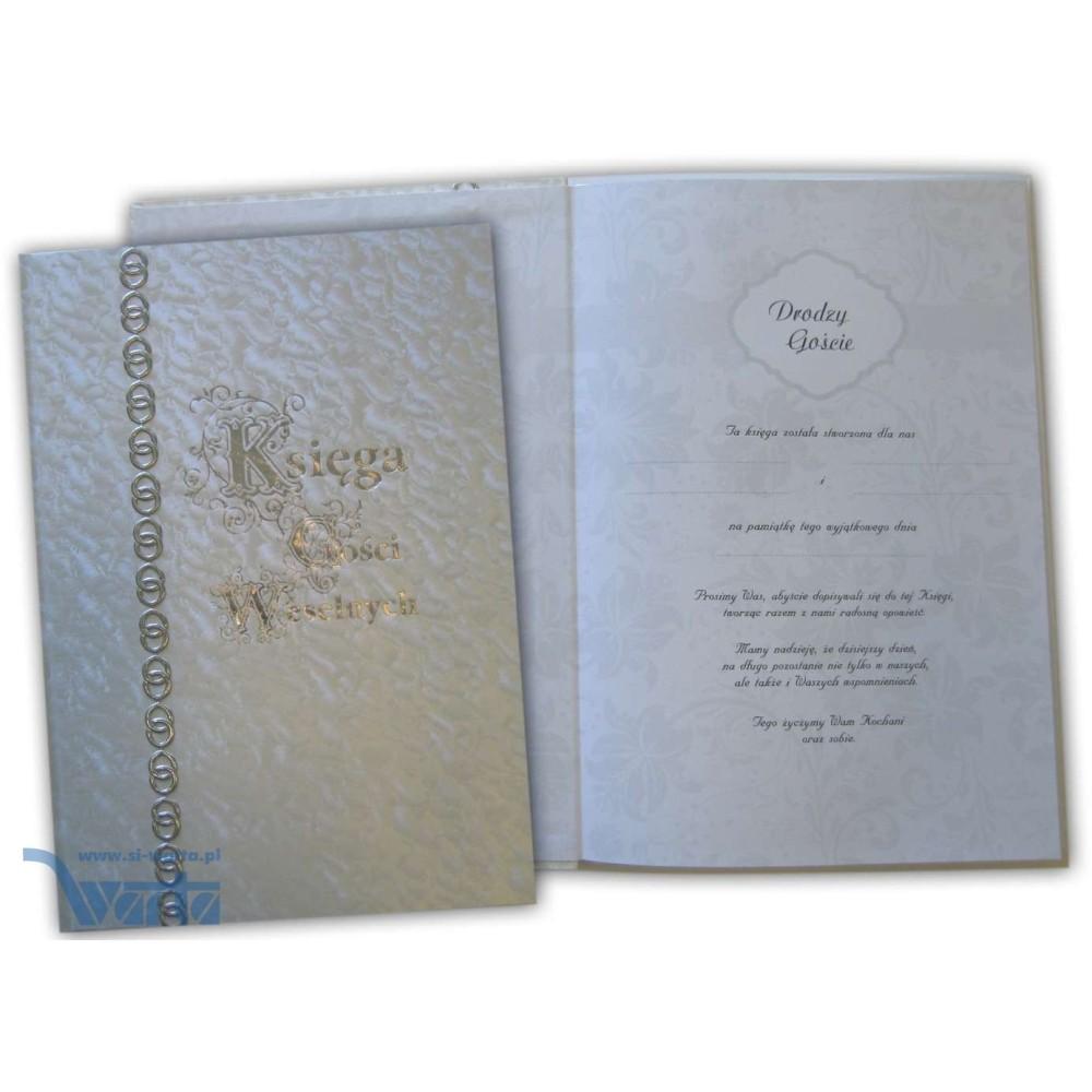 Księga Gości Weselnych 215x305, okładka introligatorska jednorodna