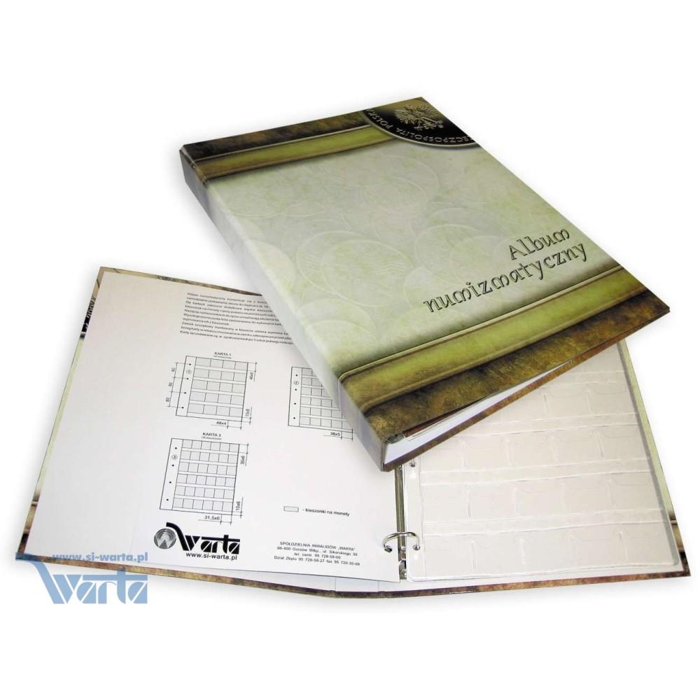1829-112-004 Album na monety 240x315, 3k, z zamkiem