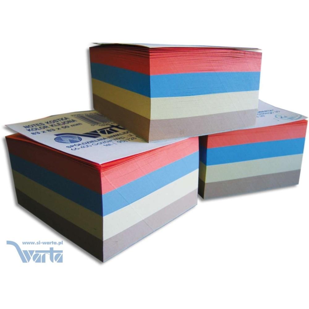 1829-120-047 Notes kostka 83x83x50, kolorowa, klejona