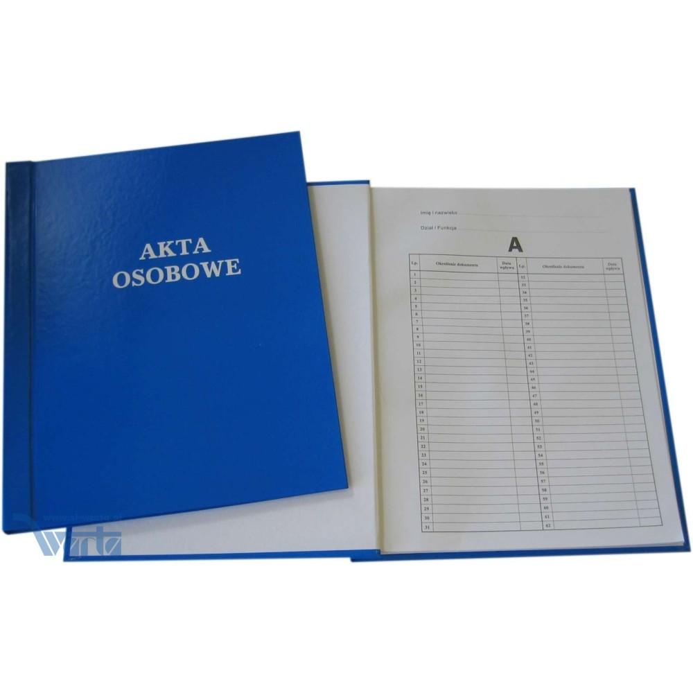 1824-339-136 Teczka Akt Osobowych, sztywny grzbiet, oklejana, niezadrukowana - niebieski