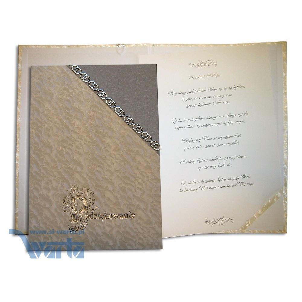 1829-319-102 Podziękowanie, okładka łączona z narożnikiem