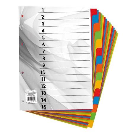 1824-990-010 Przekładka ~A4, karton barwiony, 15 części