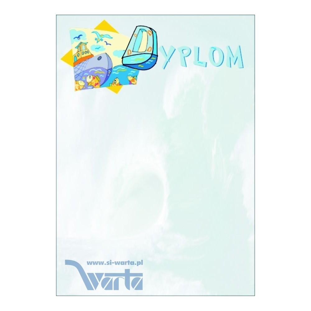 1829-314-001 01 Dyplom okolicznościowy - wzór 01 - Statek